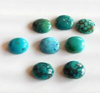29.70Ct 8 Ps Natural Tibati Turquoise Oval Cab Lot Loose Gemstone 10X12 MM C2155