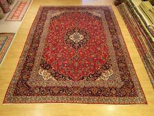 9.7 x 14 Handmade High Quality Antique 1940s Persian Kashan Rug _Fine Soft Wool
