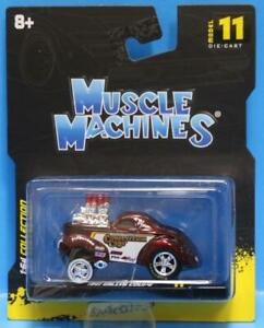MUSCLE MACHINES #11 - 1941 WILLYS COUPE GASSER 1/64 RED MAISTO