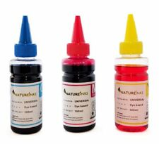 300ml Universal Cyan Magenta Yellow refill ink Bottles kit CISS cartridge