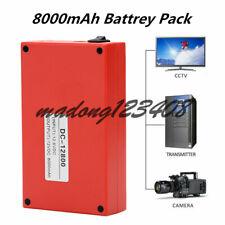 DC 12V 8000mAh Super Backup Portable Rechargeable Li-ion Battery Pack Fireproof