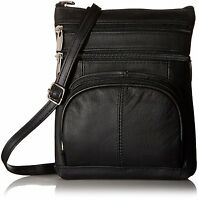 Leather Shoulder Bag Handbag Purse Cross Body Organizer Wallet Multi Pockets New