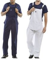 100% cotton Painters / Engineers Bib and Brace Overalls Dungarees White or Navy