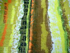 "Barkcloth Drapes Curtains Abstract Pattern 2 Panels Tlc Fabric 28x44L"" Ea Panel"