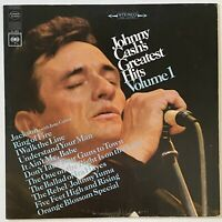 COUNTRY ROCK Johnny Cash's Greatest Hits Volume 1 LP vinyl record
