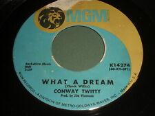 Conway Twitty: What A Dream / Long Black Train 45