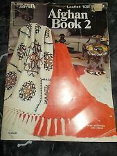 LOT OF 4 VINTAGE KNITTING/CROCHET AFGHAN PATTERN BOOKLETS 50'S TO 70'S *