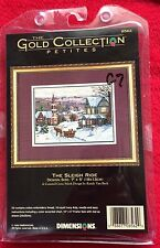 Dimensions The Gold Collection Petites The Sleigh Ride Cross Stich Kit RARE