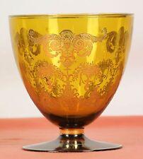 Vase Or Center Table In Glass Blowing. Golden Glazed. Twentieth Century.