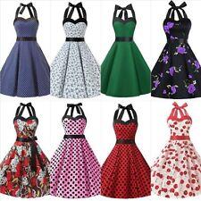 Normalgröße Damenkleider im 50er-Jahre-Stil aus Baumwollmischung
