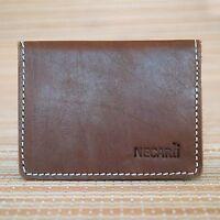 Real Leather Bifold ID Credit Card Wallet Slim Pocket Case Holder UK Seller