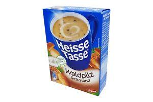 12x Erasco Heisse Tasse 🍲 Waldpilz Schmand Suppe mushroom sour cream soup