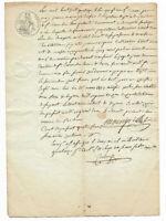 1816 justice court bailiff  manuscript document amazing oncial signature white