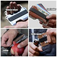 Metal Clip Outdoor Pocket Wallet Tactical Multi-Function Wallet Card Package