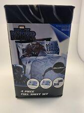 Marvel Black Panther 4 Piece Full Sheet Set Kids New