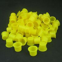 100PCS Tattoo Ink Caps Small Plastic Cups for Tattooing RS LPUS LBF