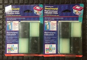4 Filters Penn Plax Filter Cartridge for Smallworld Rectangle Tank Filter -
