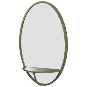 Oval Wall Hanging Mirror With Shelf by Originals