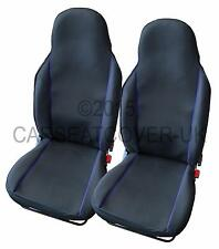 MG ZR  - Pair of UK MADE Black & Blue Trim Car Seat Covers
