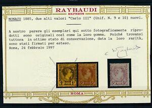 [70315] Monaco 1885 RARE stamp very fine MH value $5000 with certificate