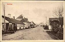 Hønsinge Dänemark Danmark Insel Seeland ~1910 Dorfansicht Straße Menschen Dorf