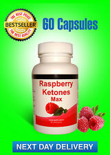 RASPBERRY KETONES WILD MAX 60 CAPS + 30 FREE PLUS FREE WEIGHT LOSS DIETING TIPS