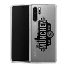Huawei P30 Pro Silikon Hülle FC Bayern München Silhouette schwarz transparent