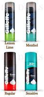Gillette Classic Pre Shave Shaving Foam, Lime Lemon, Menthol, Regular, Sensitive