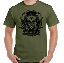 Zombie T-Shirt Apocalyptic Survival Skill Mens Gaming Skull Video Games PS4 Pc
