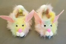 Cabbage Patch Kids Bunny Slippers Shoes Pastel Colors Fur NEW