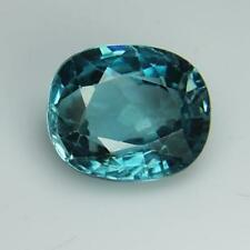 3.62 Cts Natural Blue Zircon Cambodia Oval Shape Loose Gemstone Free Shipping
