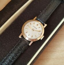 Ladies .585 14ct Gold LeCoultre Co Manual Winding Wrist Watch & Box