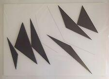Geneviève CLAISSE Composition Découpage en 3 Dimensions 79cm Art Concret Noir