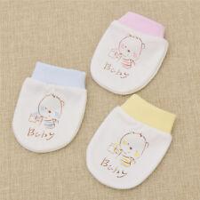 Handschuhe Anti-Kratz Neugeborenes Anti scratch Fäustlinge Rosa Blau Gelb Baby