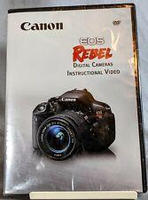 Canon EOS REBEL Digital Cameras Instructional Video DVD ROM (2014) Brand New