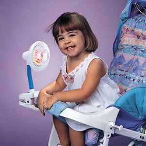 Pinwheel Cip On Fan Baby Pram Highchair Cot or Carseat Travel Cool Air Blower
