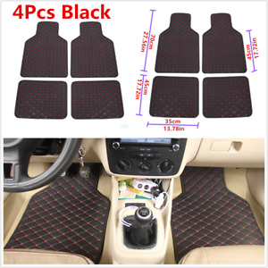 4Pcs Car Floor Mats Carpet Front & Rear Liner Pads For Auto Interior Accessories