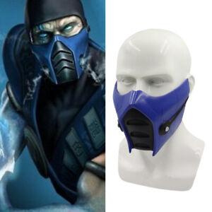 Halloween Mortal Kombat 11 Sub-Zero Cosplay Mask Resin Costume Prop Blue Cos