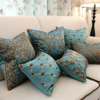 Pillow Case European Embroidery Cushions Home Sofa Car Seat Decor Throw Pillow
