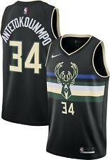 ANTETOKOUNMPO CAMISETA DE LA NBA DE LOS BUCKS NEGRA. TALLAS S,M,L,2XL.