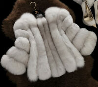 Whole Skin Real Fur Coat Vintage Fur Coats Fox Fur Jacket Women Ladies C0015