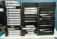 LOT of 45 VHS Tapes -Recorded 6 HOURS T-120 Sold As Used Blank k4