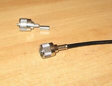 TWO PL259 CRIMP ON PLUGS TWO  NEW FOR RF HAM RADIO USE