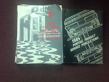 1985 Pontiac Grand Prix Bonneville Parisienne Service Shop Repair Manual SET OEM