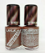 LAYLA- MAGNEFFECT Magnetic Effect 3D Nailpolish 10 BROWN SUGAR - NEW FROM ITALY