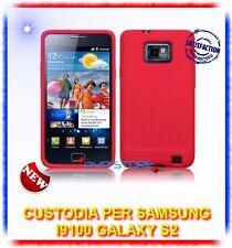 Custodia Silicone ROSSO +Pellicola per Samsung I9100 galaxy s2 plus I9105