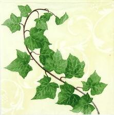 4x Single Table Party Paper Napkins for Decoupage Decopatch Vintage Hedera Ramus