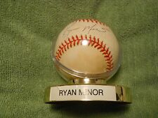 RYAN MINOR AUTOGRAPHED SIGNED BASEBALL  Baltimore Orioles, Montreal Expos
