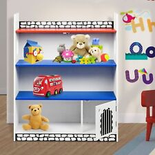 Kids Childrens Wooden Castle Bookcase Shelf Storage Rack Organiser Bookshelf New