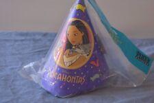 POCAHONTAS CONE HATS (8) ~ Birthday Party Supplies Paper Favors Disney Vintage D